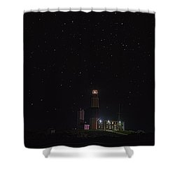 Montauk Starry Night Shower Curtain by William Jobes