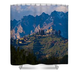Montevecchia And Resegone Shower Curtain by Marco Busoni