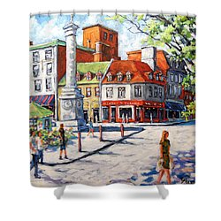 Montreal Street Urban Scene By Prankearts Shower Curtain by Richard T Pranke