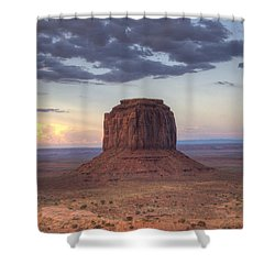 Monument Valley - Merrick Butte Shower Curtain by Saija  Lehtonen