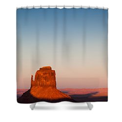 Monument Valley Sunset Shower Curtain by Dave Bowman