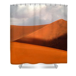 Moody Tree Upright Shower Curtain