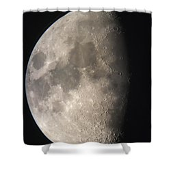 Shower Curtain featuring the photograph Moon Against The Black Sky by John Short