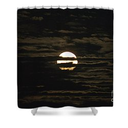 Shower Curtain featuring the photograph Moon Behind The Clouds by William Norton