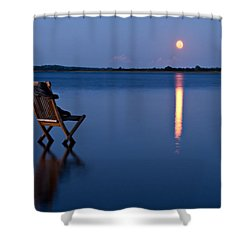 Shower Curtain featuring the photograph Moon Boots by Gert Lavsen