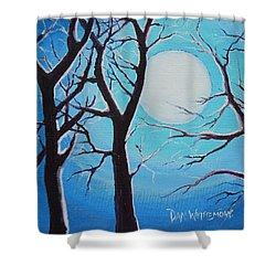 Shower Curtain featuring the painting Moon Light by Dan Whittemore