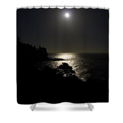 Moon Over Dor Shower Curtain by Brent L Ander