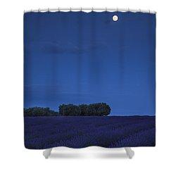 Moon Over Lavender Shower Curtain by Brian Jannsen