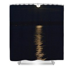 Moon Over Seneca Lake Shower Curtain by William Norton