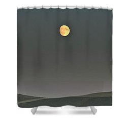 Shower Curtain featuring the photograph Moon Over The Palouse by Albert Seger