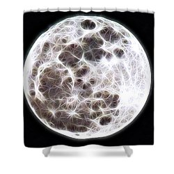 Moon Shower Curtain by Stephen Younts