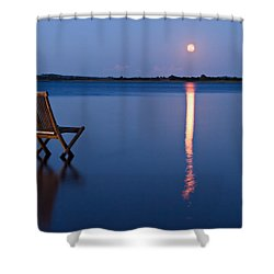 Shower Curtain featuring the photograph Moon View by Gert Lavsen