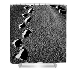 Moon Walk Shower Curtain by Jerry Cordeiro