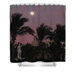 Moonlit Resort Shower Curtain by Shane Bechler