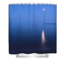 Moonrise On Lake Superior Shower Curtain