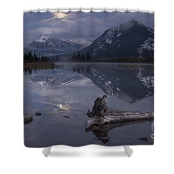 Moonrise Over Banff Shower Curtain