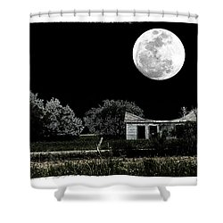 Shower Curtain featuring the photograph Moon's Light by Travis Burgess