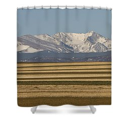 Moons Set On The Colorado Plains Shower Curtain by James BO  Insogna