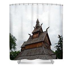 Moorhead Stave Church 26 Shower Curtain