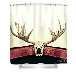 Moose Trophy Shower Curtain