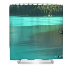 Shower Curtain featuring the photograph Moraine by Milena Boeva