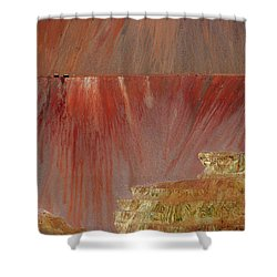Shower Curtain featuring the photograph Morenci Mine by Vicki Pelham