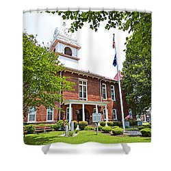 Morgan County Courthouse Shower Curtain by Paul Mashburn
