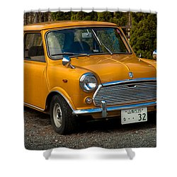 Moris Mini Cooper Shower Curtain by Sebastian Musial