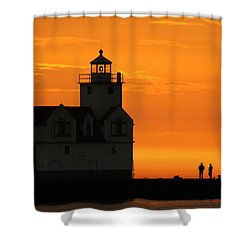 Morning Friends Shower Curtain by Bill Pevlor