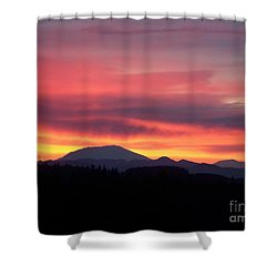 Shower Curtain featuring the photograph Morning Glow by Chalet Roome-Rigdon
