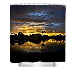 Morning Glow  Shower Curtain by Saija  Lehtonen