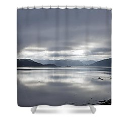 Morning Light On The Loch Shower Curtain by Gary Eason