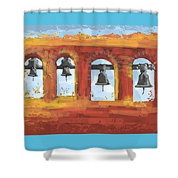 Morning Mission Bells Shower Curtain
