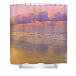 Shower Curtain featuring the photograph Morning On The Beach  by Lydia Holly