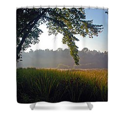 Morning On The River Shower Curtain by Kay Lovingood