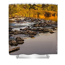 Morning Reflections Shower Curtain by Robert Bales