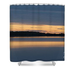 Morning Sun Rising At Arctic Sea Shower Curtain by Heiko Koehrer-Wagner