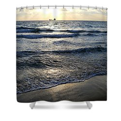 Shower Curtain featuring the photograph Morning Surf by Clara Sue Beym