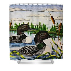 Morning Swim Shower Curtain