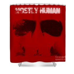 Mostly Human 1 Shower Curtain by Pixel Chimp