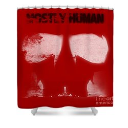 Mostly Human 2 Shower Curtain by Pixel  Chimp