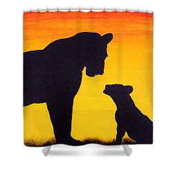 Shower Curtain featuring the painting Mother Africa 3 by Michael Cross