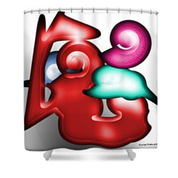 Shower Curtain featuring the digital art Mother And Child In The Daylight by George Pedro