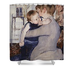 Mother And Child Shower Curtain by Mary Stephenson