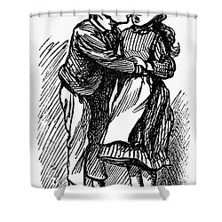 Mother Goose: Kiss Shower Curtain by Granger