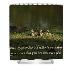 Mother's Watchful Eye Shower Curtain by Kathy Clark