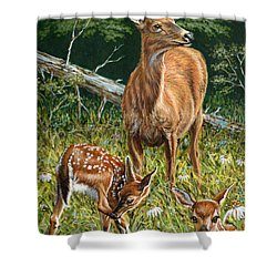 Mothers Worry Shower Curtain