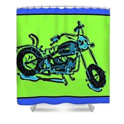 Motorbike 1c Shower Curtain by Mauro Celotti