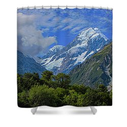 Shower Curtain featuring the photograph Mount Cook by David Gleeson