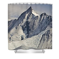 Mount Herschel Above Cape Hallett Shower Curtain by Colin Monteath